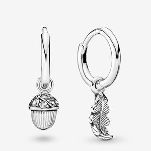 Pandora Acorn & Leaf Hoop Earrings